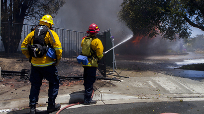 Arson investigation underway as fires continue to ravage Southern California