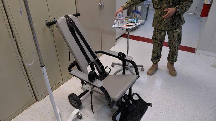 Gitmo detainees fight destruction of force-feeding footage