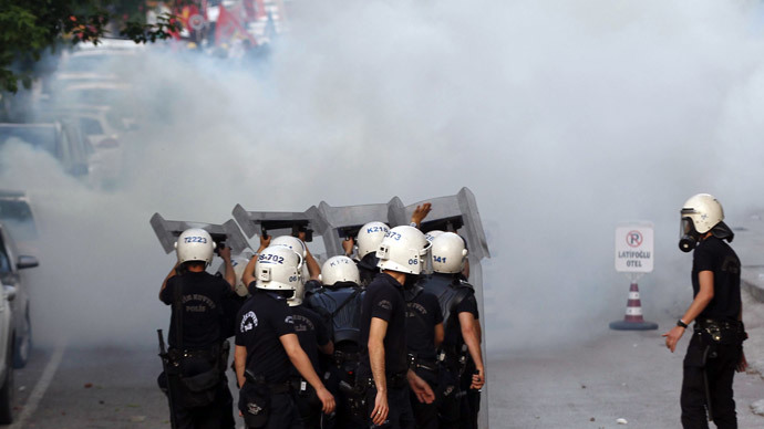 Turkish police fire water, gas at protesters in mining disaster town