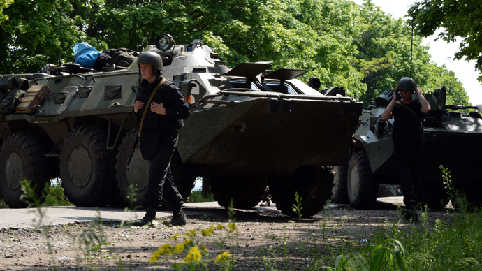 Explosions heard in Slavyansk, reports of fighting