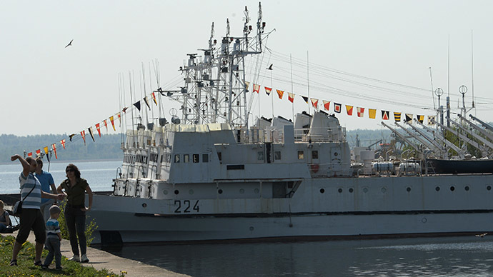 Warships on parade at Baltic Fleet's 311th anniversary