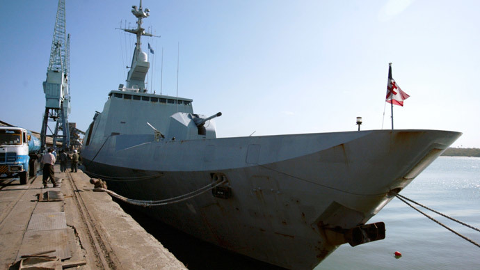 The French frigate FS Surcouf.(Reuters / Joseph Okanga)