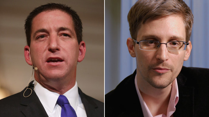 Glenn Greenwald, Edward Snowde.(AFP Photo / Chip Somodevilla / Channel 4)