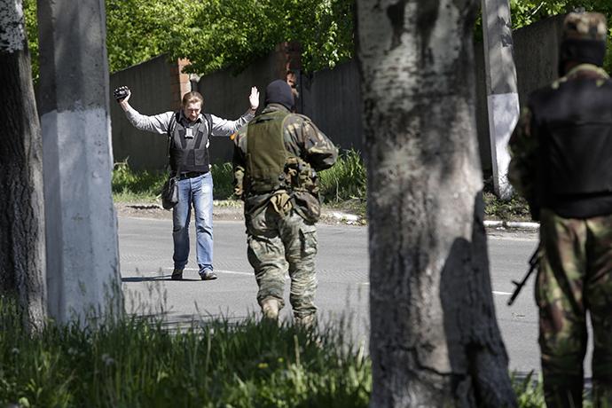 Donetsk, May 6, 2014. (Reuters / Konstantin Chernichkin)