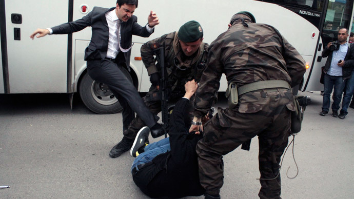 Turkish PM's aide granted sick leave for 'trauma' after kicking mine tragedy mourner
