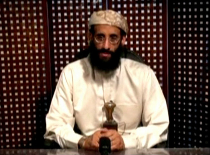 Anwar al-Awlaki, a U.S.-born cleric linked to al Qaeda's Yemen-based wing, gives a religious lecture in an unknown location in this still image taken from video released by Intelwire.com on September 30, 2011. (Reuters/Intelwire.com)