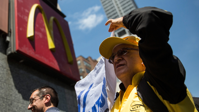 More than 100 protesters arrested at McDonald's HQ demanding fair pay