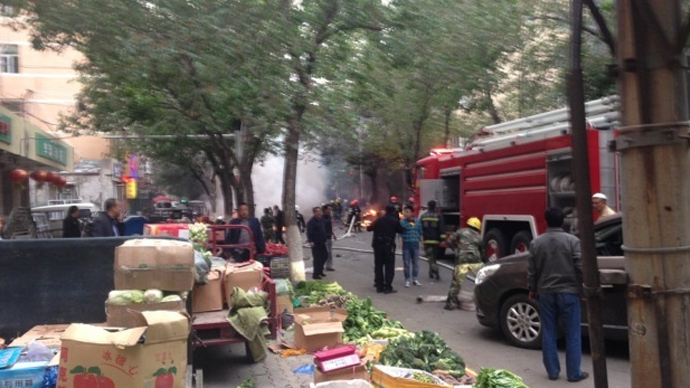 Dozens killed as blasts rock open market in northwestern China (PHOTOS)