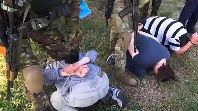 "The Russian detained journalists are being investigated on the charges of ""aiding the terrorist groups"". Screenshot from YouTube (Life-Maria Channel)"