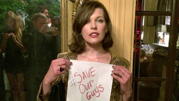#SaveOurGuys: Milla Jovovich, rights groups urge release of Russian journos in Ukraine