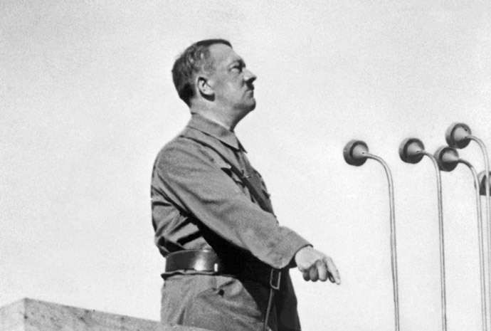 German Nazi Chancellor Adolf Hitler (1889-1945) gives a speech in 1937 in an unidentified place.(AFP Photo / France Presse Voir)