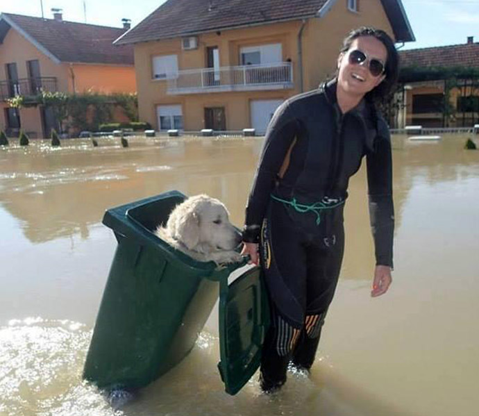 We Are All One – InTimes Of Danger Love Prevails – 2014: The Year Of Unity Consciousness – Devastating Balkans Floods – People Risk Their Lives To Save The Animals – May 2014 A-4