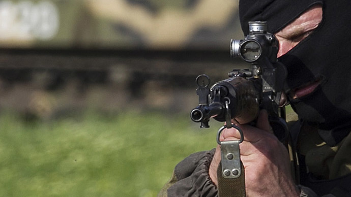 Journalists caught in gunfire near Slavyansk