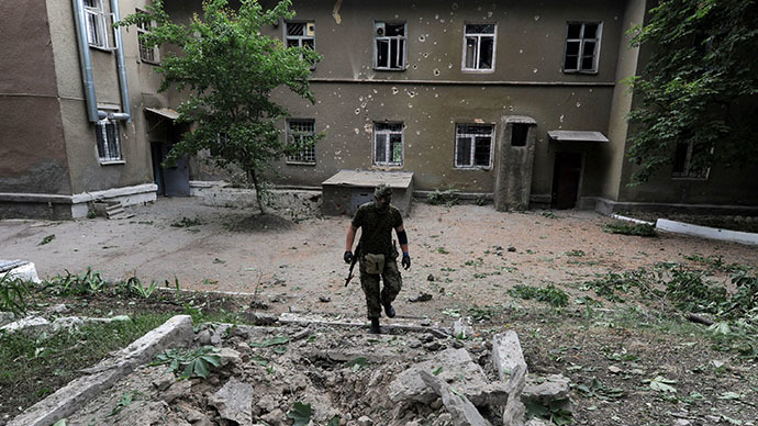 The eastern Ukrainian city of Slavyansk, on May 25, 2014. (AFP Photo / Viktor Drachev)