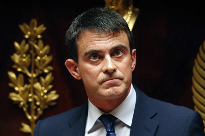 French Prime Minister Manuel Valls (Reuters/Charles Platiau)