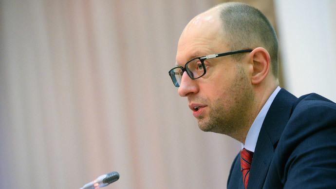 Yatsenyuk demands $1bn worth of gas 'stolen' by Russia in Crimea