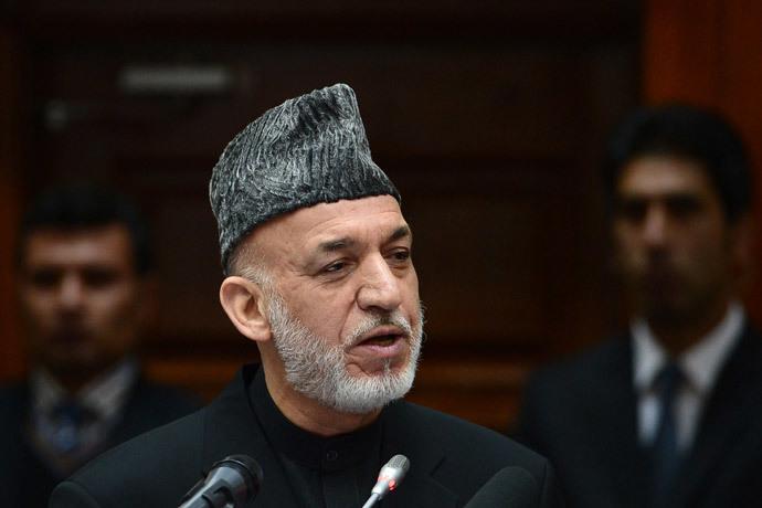 Afghan President Hamid Karzai (AFP Photo / Wakil KohsarKohsar)