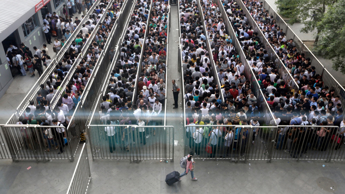 Unprecedented queues as Beijing subway introduces airport-style security (PHOTOS)