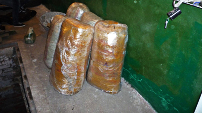 Police seize almost 100 kilos of marijuana from jobless Russian