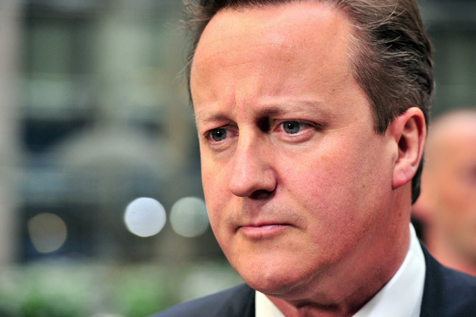 Britain Prime minister David Cameron (AFP Photo / Georges Gobet)