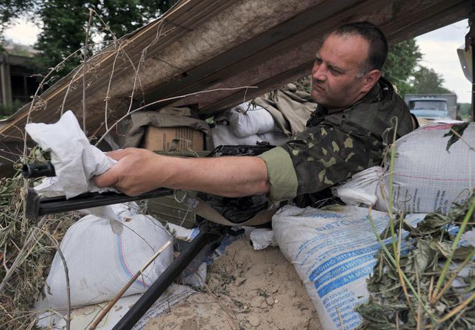 A Ukrainian soldier (AFP Photo / Genya Savilov)