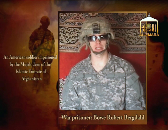 Undated image from video footage taken from a Taliban-affiliated website shows a man who says he is Private First Class Bowe R. Bergdahl, a U.S. soldier captured by the Taliban in southeastern Afghanistan (Reuters/Reuters/TV)