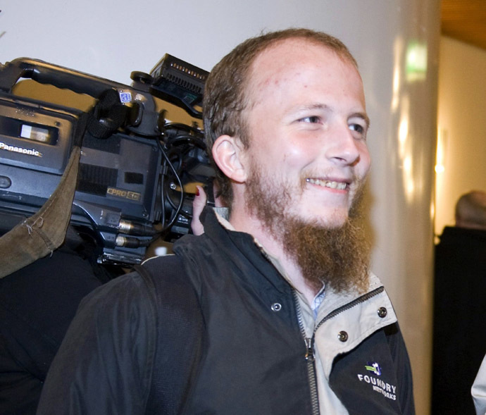 Сo-founder of The Pirate Bay filesharing website, Gottfrid Svartholm Warg (AFP Photo/Bertil Ericson)