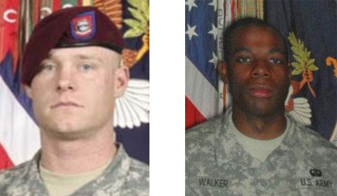 Staff Sergeant Clayton Bowen, 29, (L) and Private First Class Morris Walker, 23 (image by US Army)
