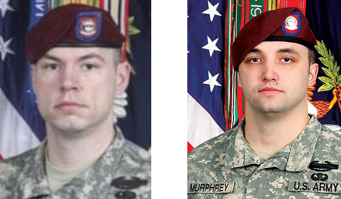 Staff Sergeant Kurt Curtiss, (L) and Staff Sergeant Michael Murphrey, 25 (image by US Army)
