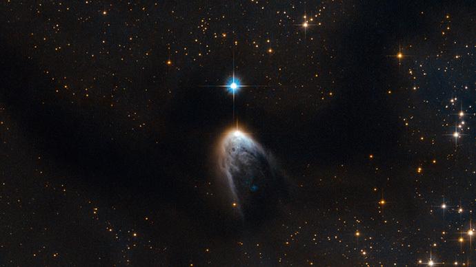 Hubble telescope catches violent birth of a star