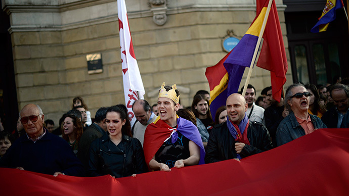 Dozens of Spanish cities march in protest against monarchy (PHOTOS, VIDEO)