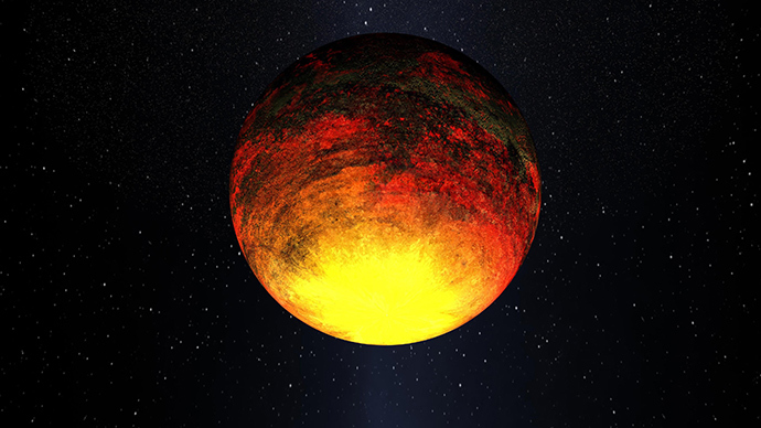This NASA artist's concept image released on January 10, 2011 and obtained on February 1, 2011 shows Kepler-10b (AFP Photo / NASA)