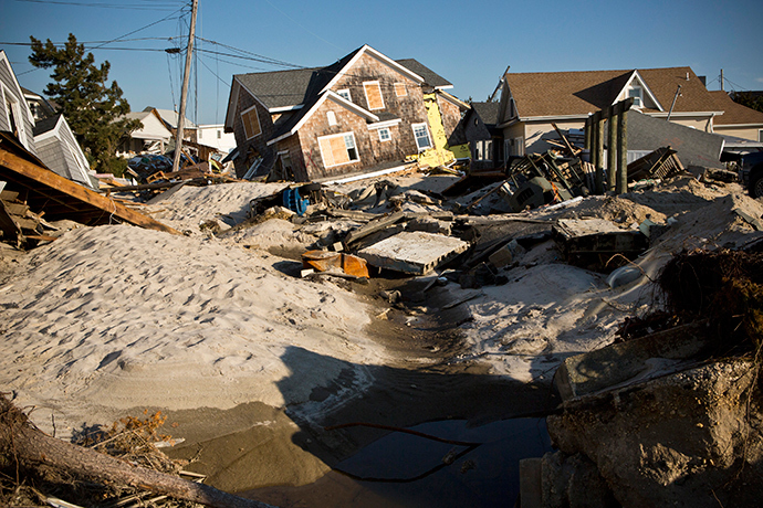 Homes destroyed by Hurricane Sandy are seen, one month after the storm made landfall, in Mantoloking, New Jersey, November 29, 2012 (Reuters / Andrew Burton)