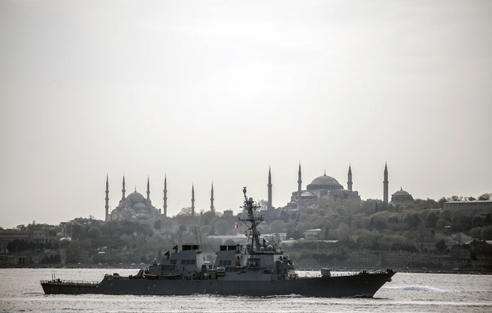 US warship, USS Donald Cook (AFP Photo/Bulent Kilic)