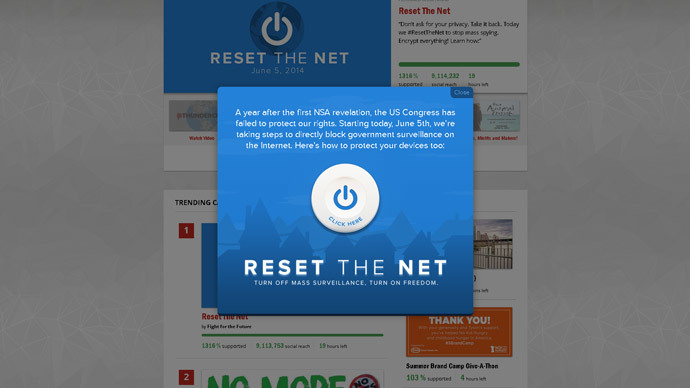 'Don't ask for privacy, Take it back': Anti-NSA #ResetTheNet campaign kicks off