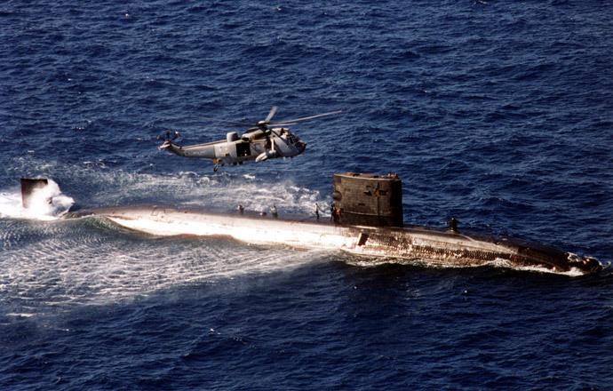 "Nuclear powered Trafalgar class ""hunter killer"" submarine HMS Turbulent (Reuters / Royal Navy-Lt Cdr O'Brien)"