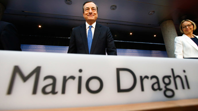 European Central Bank (ECB) President Mario Draghi (Reuters / Ralph Orlowski)