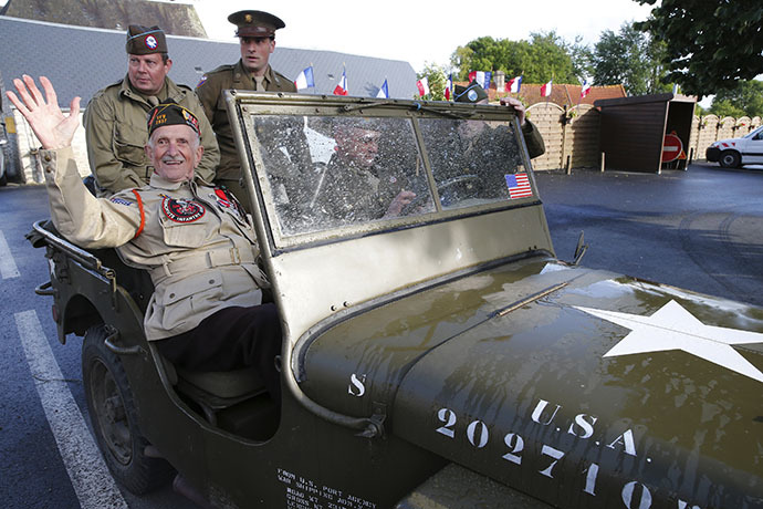 World War II veteran Jack W. Schlegel was born in Germany, but fought for the Americans (Reuters / Pascal Rossignol)