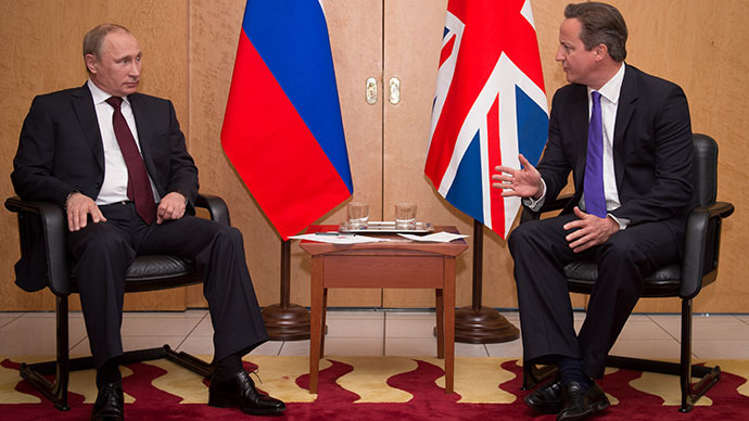 Putin and Cameron meet in France, 'avoid handshake' upon greeting