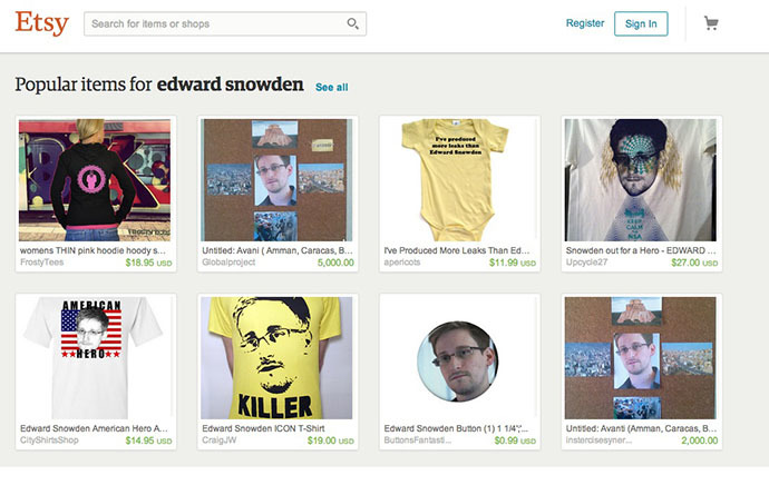 Screenshot from etsy.com