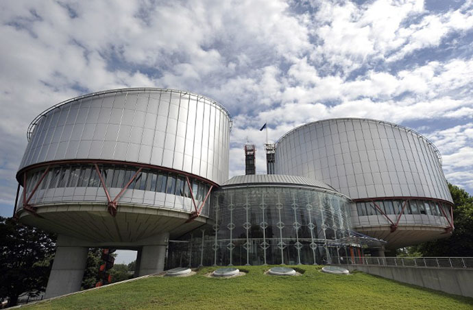 The European Court of Human Rights in the French eastern city of Strasbourg. (AFP Photo / Johanna Leguerre)