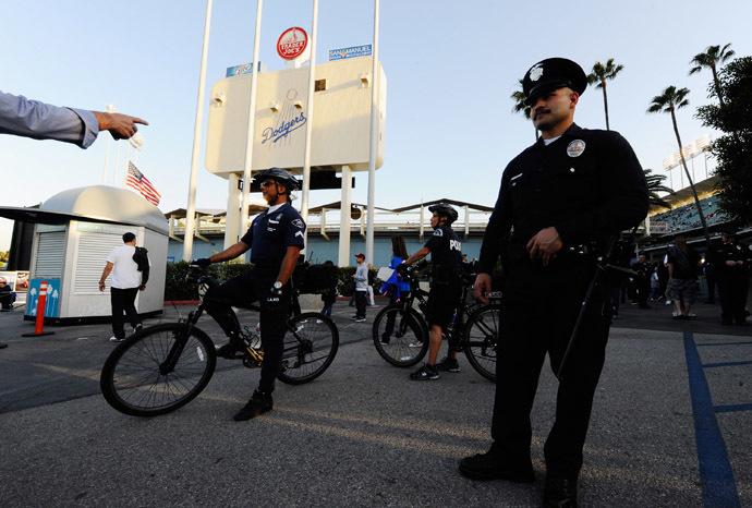 Los Angeles Police Department officers (Kevork Djansezian/Getty Images/AFP)