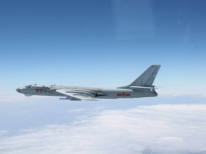 A Chinese H-6 bomber (Reuters/Joint Staff Office of the Defense Ministry of Japan)