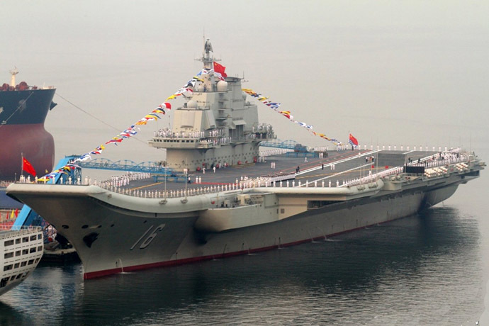 China's first aircraft carrier, Liaoning (CV-16) (Photo from www.jeffhead.com)
