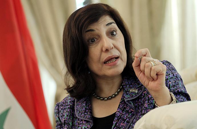 Bouthaina Shaaban, envoy of Syrian President Bashar al-Assad (Reuters)