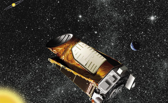 Artist's impression of the Kepler telescope (NASA / Ames / JPL-Caltech)