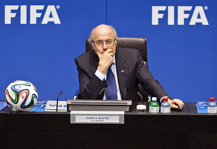 (FILES) - A picture taken on March 21, 2014 shows FIFA president Sepp Blatter (AFP Photo / Michael Buholzer)