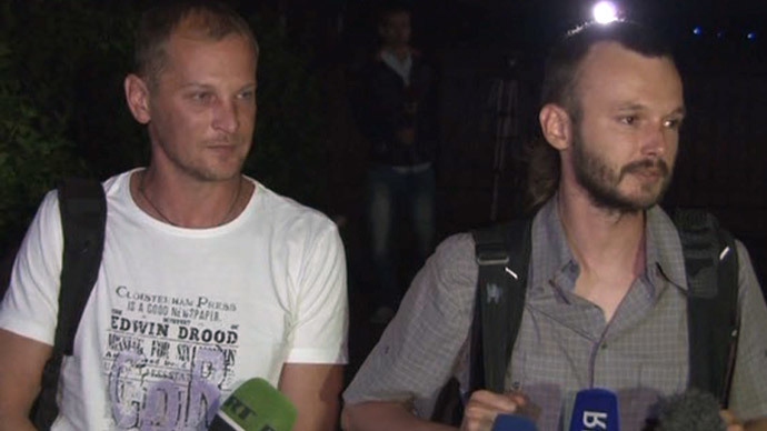 Ukraine releases two Russian journalists arrested for 'spying' (VIDEO)