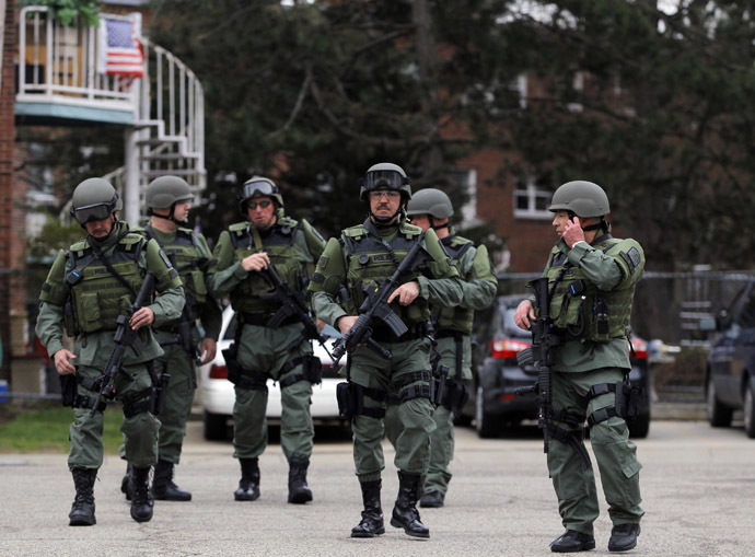 Police SWAT team members (Reuters/Jessica Rinaldi)