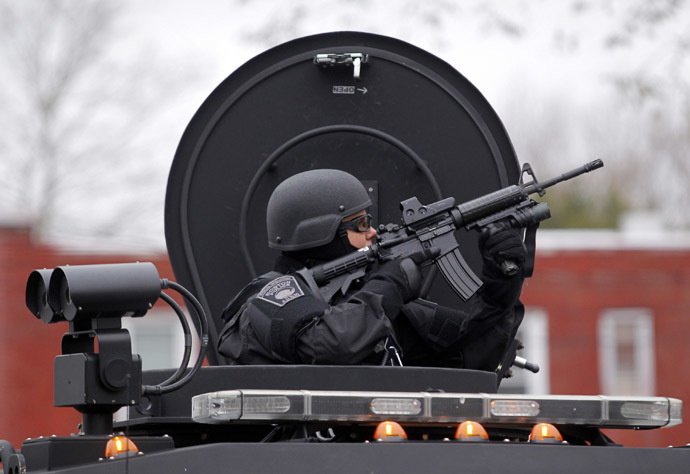 A member of the SWAT team (Reuters/Jessica Rinaldi)